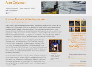 Grey and Burnt Orange WordPress theme